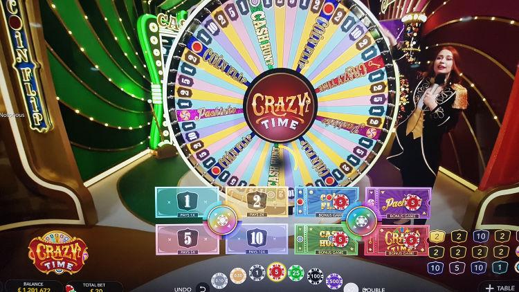 Crazy Time bonushjul